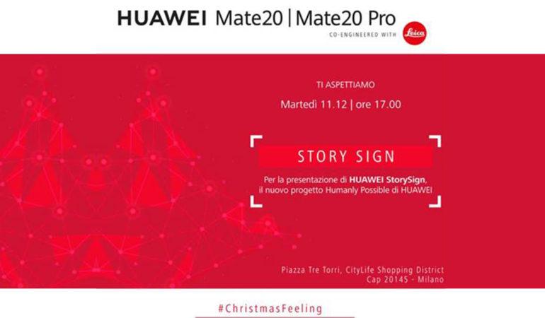 Milano, 11 Dicembre: Huawei presenta Storysign, l'app che aiuta i bambini sordi a imparare a leggere